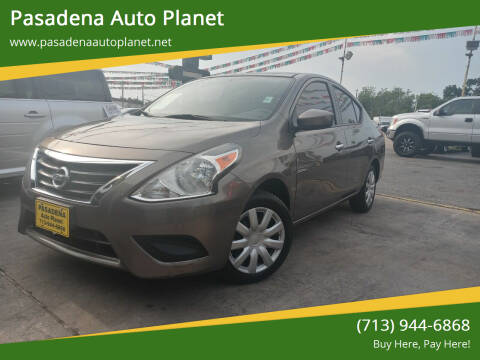 2016 Nissan Versa for sale at Pasadena Auto Planet in Houston TX