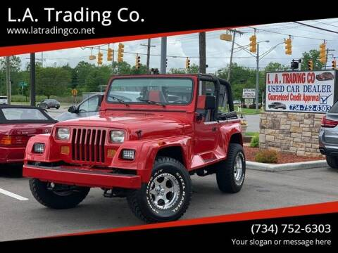 1992 Jeep Wrangler for sale at L.A. Trading Co. in Woodhaven MI
