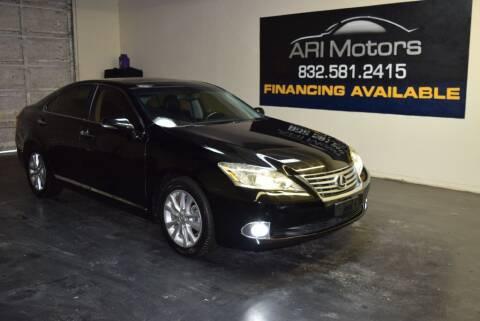 2011 Lexus ES 350 for sale at ARI Motors in Houston TX