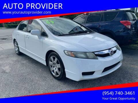 2009 Honda Civic for sale at AUTO PROVIDER in Fort Lauderdale FL