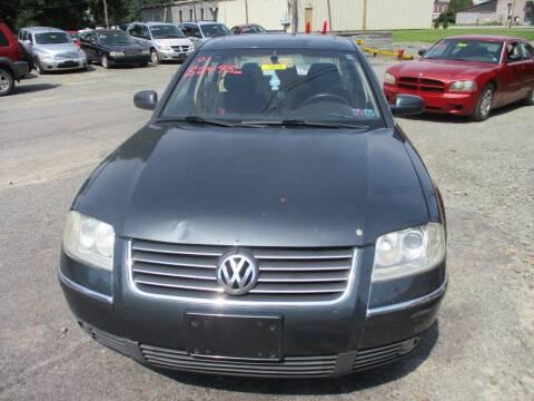2001 Volkswagen Passat for sale at FERNWOOD AUTO SALES in Nicholson PA