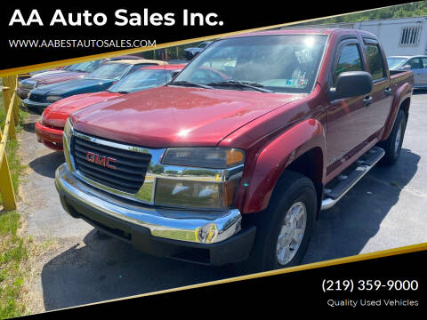 2004 GMC Canyon for sale at AA Auto Sales Inc. in Gary IN