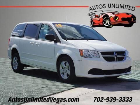 2013 Dodge Grand Caravan for sale at Autos Unlimited in Las Vegas NV