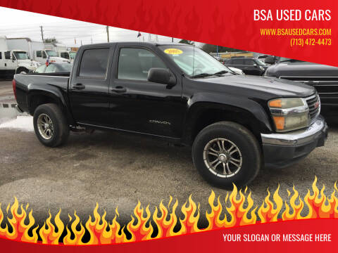 2005 GMC Canyon for sale at BSA Used Cars in Pasadena TX