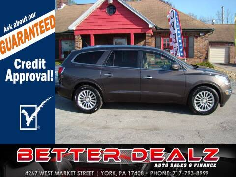 2012 Buick Enclave for sale at Better Dealz Auto Sales & Finance in York PA
