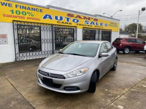 2016 Dodge Dart for sale at Sam's Auto Sales in Houston TX