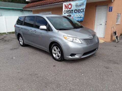 2011 Toyota Sienna for sale at Gold Motors Auto Group Inc in Tampa FL