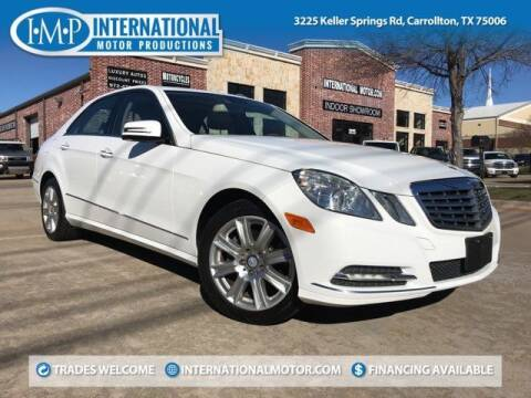 2013 Mercedes-Benz E-Class for sale at International Motor Productions in Carrollton TX