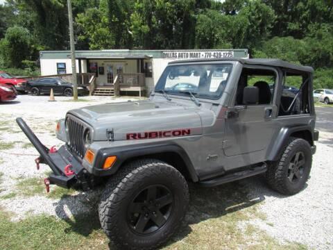 1999 Jeep Wrangler for sale at Dallas Auto Mart in Dallas GA