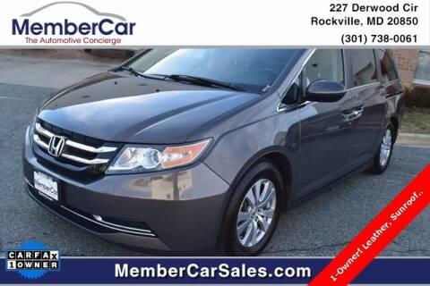 2015 Honda Odyssey for sale at MemberCar in Rockville MD