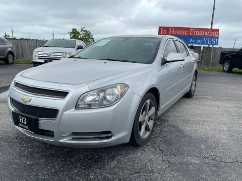 2012 Chevrolet Malibu for sale at H3 MOTORS in Dickinson TX