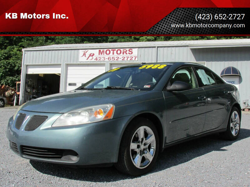 2009 Pontiac G6 for sale at KB Motors Inc. in Bristol VA