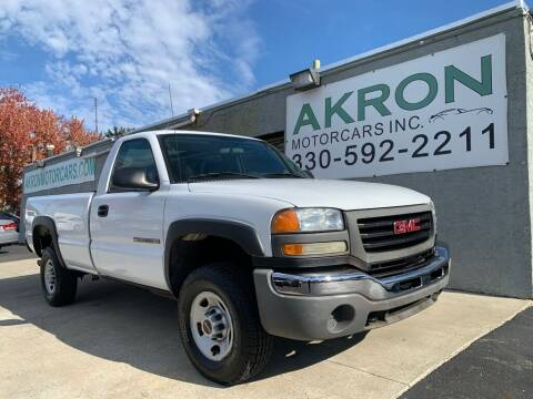 2004 GMC Sierra 2500HD for sale at Akron Motorcars Inc. in Akron OH