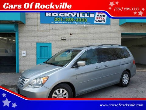 2010 Honda Odyssey for sale at Cars Of Rockville in Rockville MD