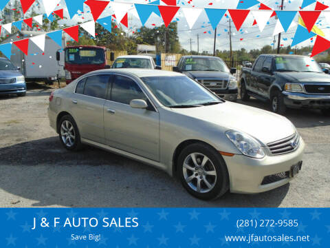 2006 Infiniti G35 for sale at J & F AUTO SALES in Houston TX