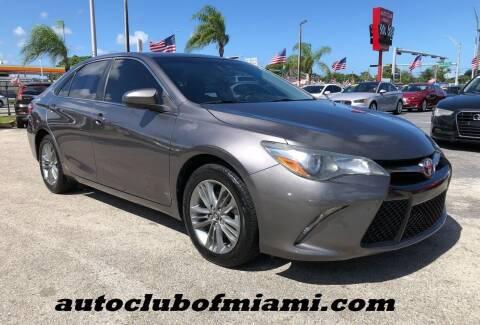 2016 Toyota Camry for sale at AUTO CLUB OF MIAMI, INC in Miami FL