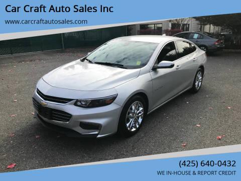2016 Chevrolet Malibu for sale at Car Craft Auto Sales Inc in Lynnwood WA