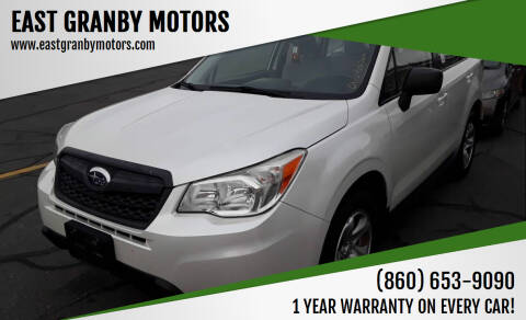 2015 Subaru Forester for sale at EAST GRANBY MOTORS in East Granby CT