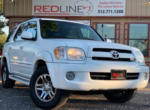 2007 Toyota Sequoia for sale at REDLINE AUTO SALES LLC in Cedar Creek TX