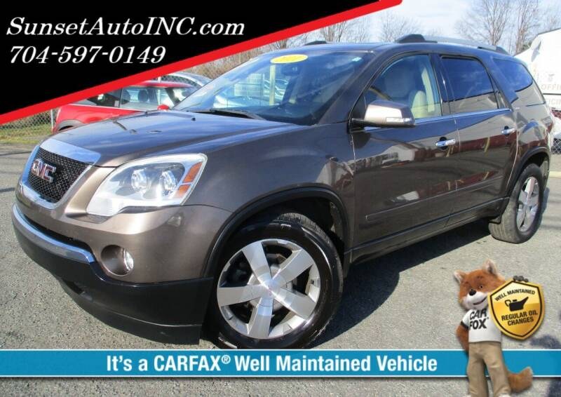 2011 GMC Acadia for sale at Sunset Auto in Charlotte NC