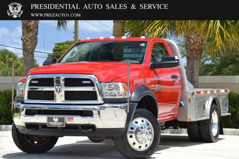 2016 RAM Ram Chassis 4500 for sale at Presidential Auto  Sales & Service in Delray Beach FL