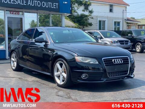 2012 Audi A4 for sale at MWS Wholesale  Auto Outlet in Grand Rapids MI