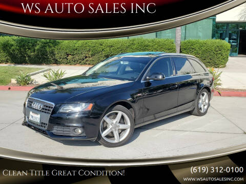 2010 Audi A4 for sale at WS AUTO SALES INC in El Cajon CA