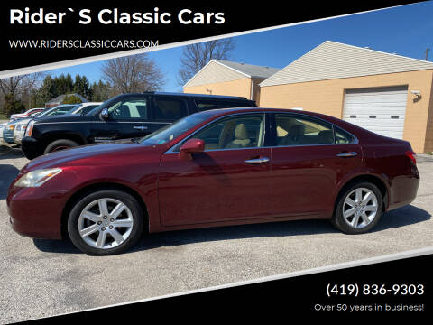2008 Lexus ES 350 for sale at Rider`s Classic Cars in Millbury OH
