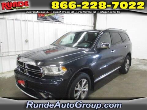 2014 Dodge Durango for sale at Runde PreDriven in Hazel Green WI