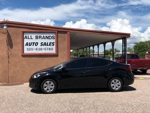 2016 Hyundai Elantra for sale at All Brands Auto Sales in Tucson AZ