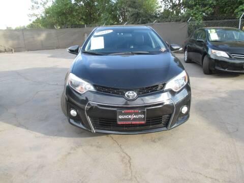 2016 Toyota Corolla for sale at Quick Auto Sales in Modesto CA