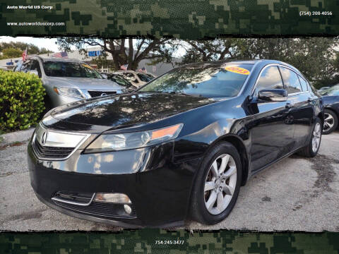 2013 Acura TL for sale at Auto World US Corp in Plantation FL
