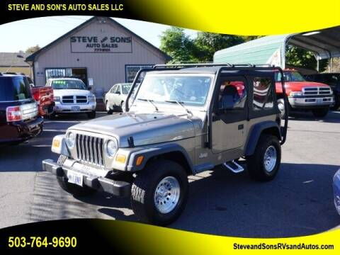 2002 Jeep Wrangler for sale at Steve & Sons Auto Sales in Happy Valley OR