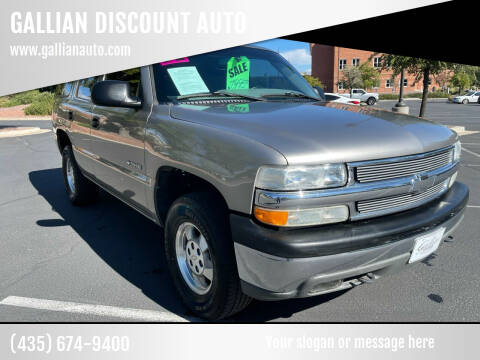 2002 Chevrolet Tahoe for sale at GALLIAN DISCOUNT AUTO in Saint George UT