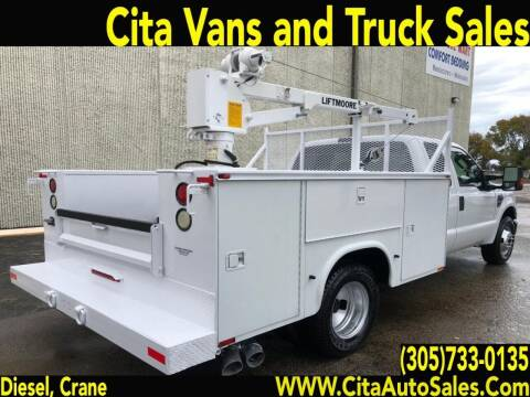 2008 FORD F350 SD UTILITY SERVICE TRUCK LIFTMOORE CRANE DIESEL for sale at Cita Auto Sales in Medley FL