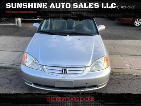 2003 Honda Civic for sale at SUNSHINE AUTO SALES LLC in Paterson NJ