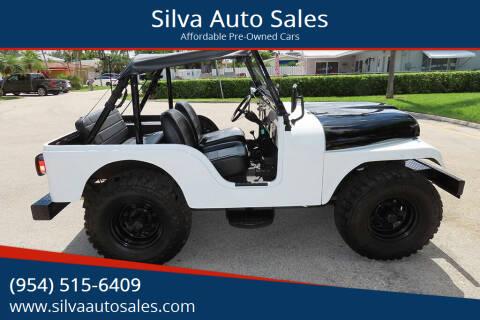 1967 Jeep CJ-5 for sale at Silva Auto Sales in Pompano Beach FL