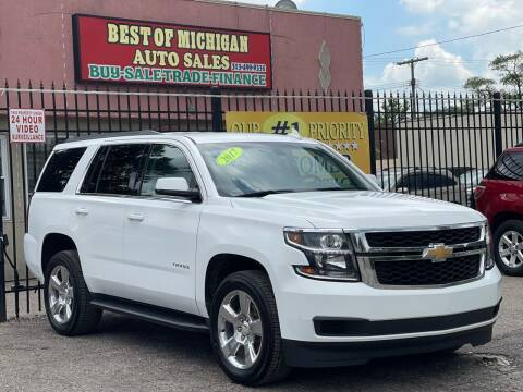 2017 Chevrolet Tahoe for sale at Best of Michigan Auto Sales in Detroit MI