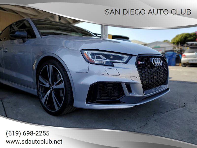 2018 Audi RS 3 for sale at San Diego Auto Club in Spring Valley CA