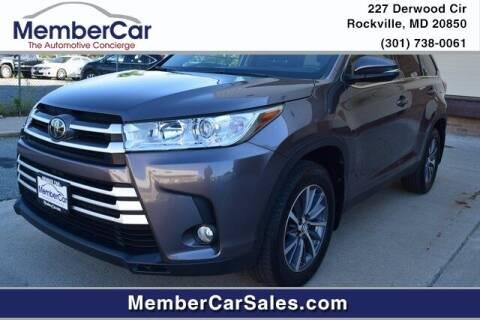 2019 Toyota Highlander for sale at MemberCar in Rockville MD