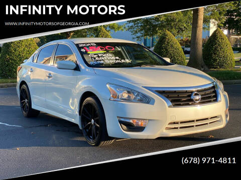 2015 Nissan Altima for sale at INFINITY MOTORS in Gainesville GA
