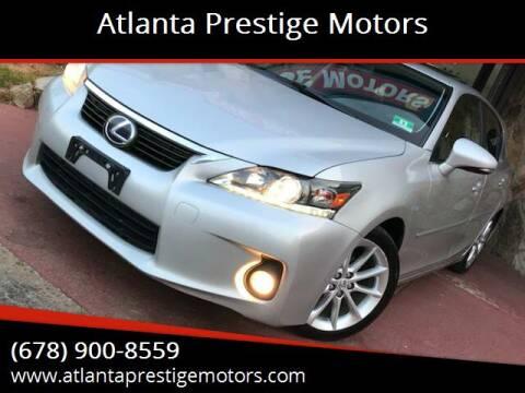 2012 Lexus CT 200h for sale at Atlanta Prestige Motors in Decatur GA