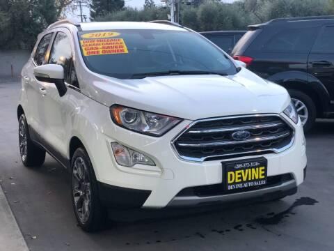 2019 Ford EcoSport for sale at Devine Auto Sales in Modesto CA