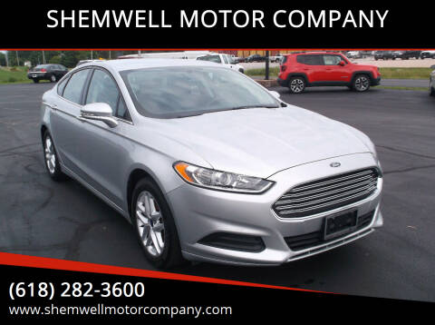 2015 Ford Fusion for sale at SHEMWELL MOTOR COMPANY in Red Bud IL