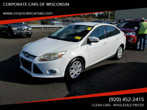 2012 Ford Focus for sale at CORPORATE CARS OF WISCONSIN in Sheboygan WI