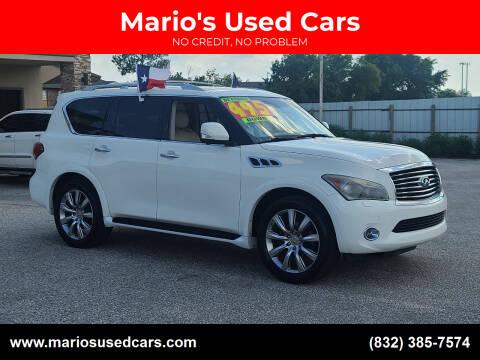 2013 Infiniti QX56 for sale at Mario's Used Cars - Pasadena Location in Pasadena TX