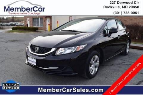 2013 Honda Civic for sale at MemberCar in Rockville MD