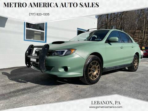 2010 Subaru Impreza for sale at METRO AMERICA AUTO SALES of Lebanon in Lebanon PA