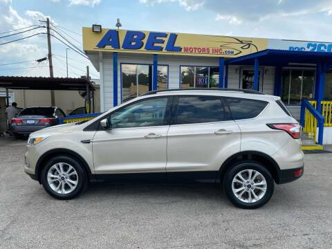2018 Ford Escape for sale at Abel Motors, Inc. in Conroe TX