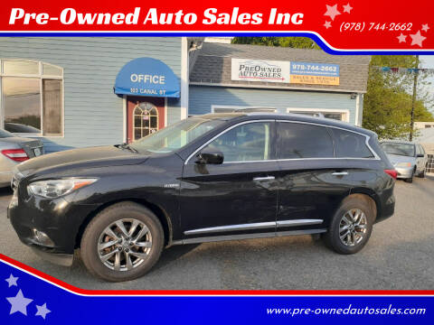 2014 Infiniti QX60 Hybrid for sale at Pre-Owned Auto Sales Inc in Salem MA